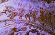 Dieses Bild stammt aus dem Deckengemälde der Kirche in Skibby auf Seeland in Dänemark es stammt aus dem Jahre 1065 und zeigt die Lebensfreude 3 junger Könige mit tigergescheckten Pferden, Jagdhunden und Falken.